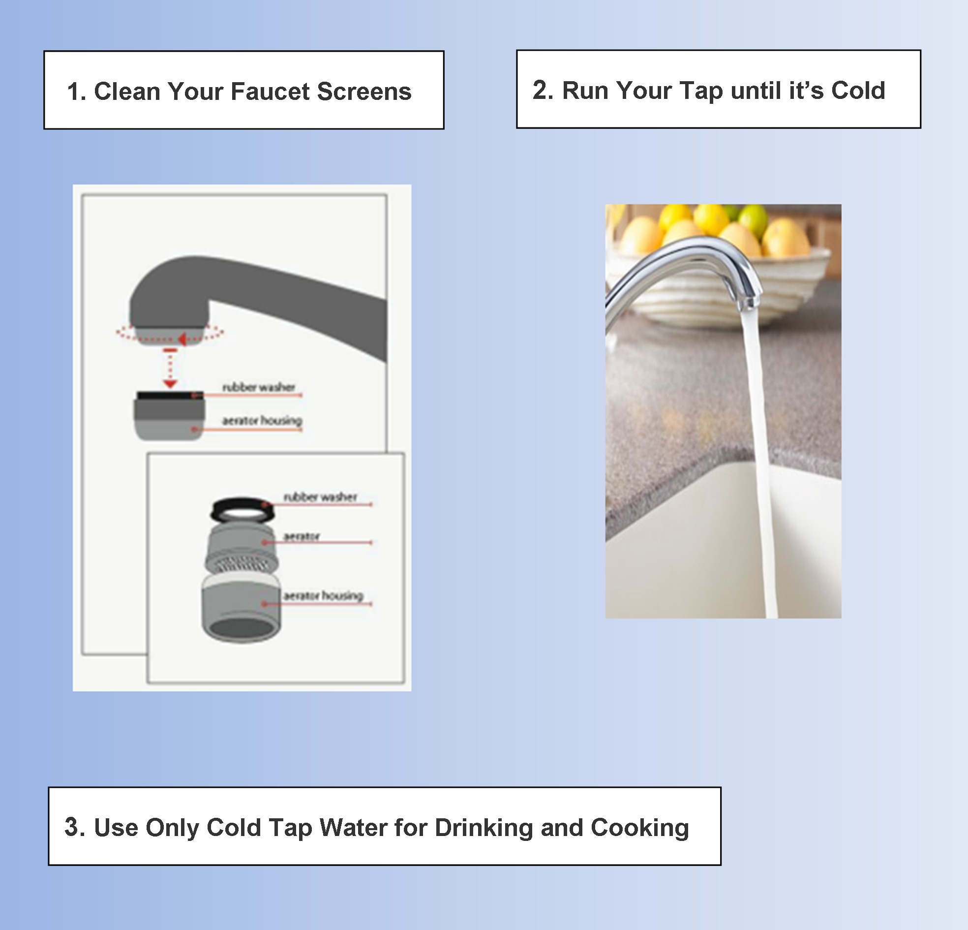 Steps to reduce lead in drinking water
